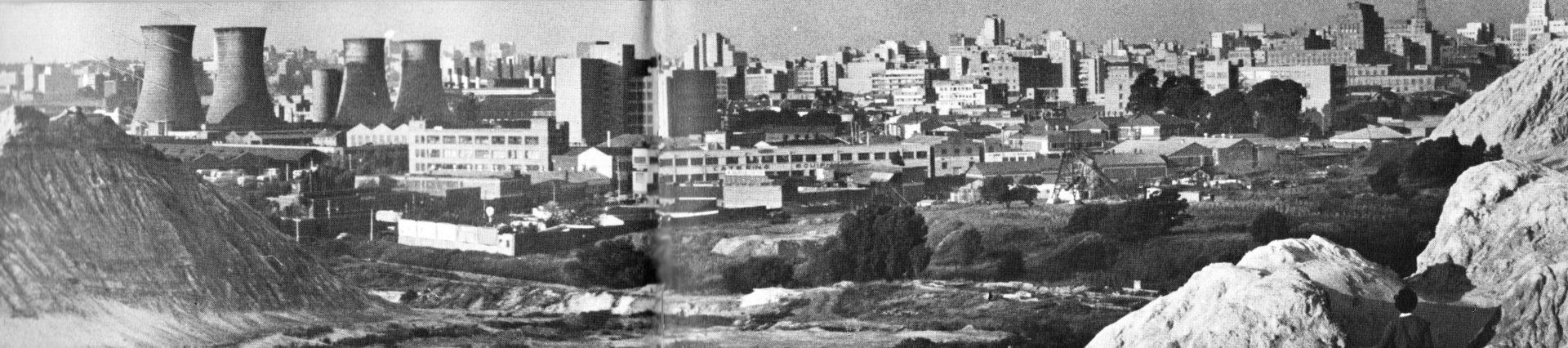 Historical downtown Johannesburg with mine dumps – Ekala tours