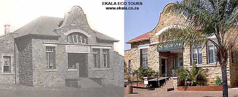 Nedbank building, Cullinan - historical and today - Ekala's Cullinan village tour