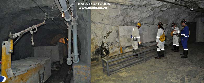 Underground tour - Cullinan diamond mine