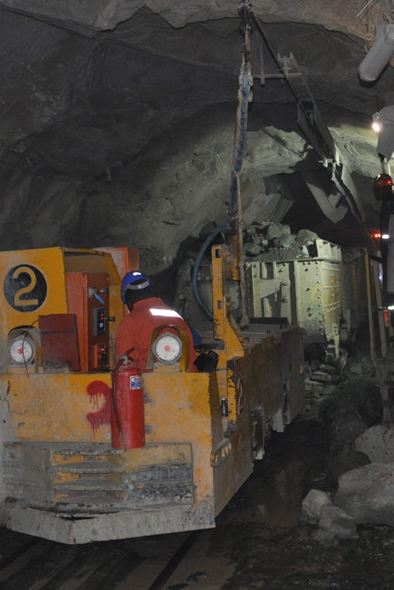 Underground operations - Cullinan diamond mine