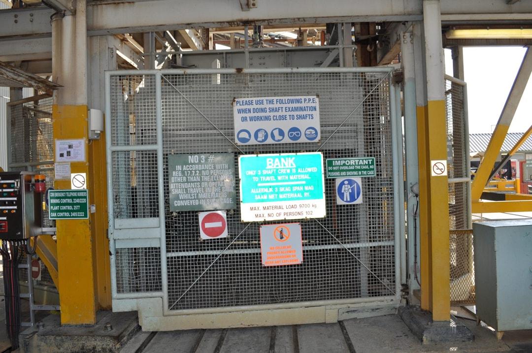 """Cullinan's cage """"elevator"""" ready to take Ekala's group underground"""