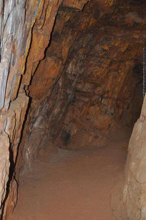 Underground tunnel – early Johannesburg gold mine