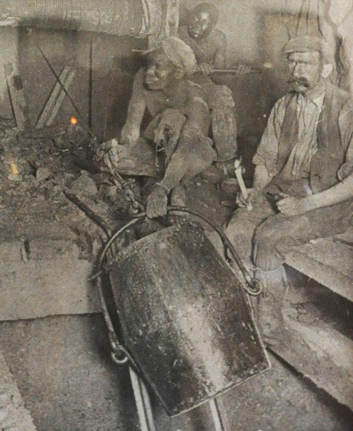 Historical photo, early Johannesburg gold mine
