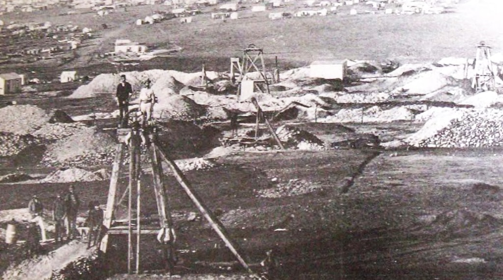 Historical photo – early Johannesburg surface operations gold mine