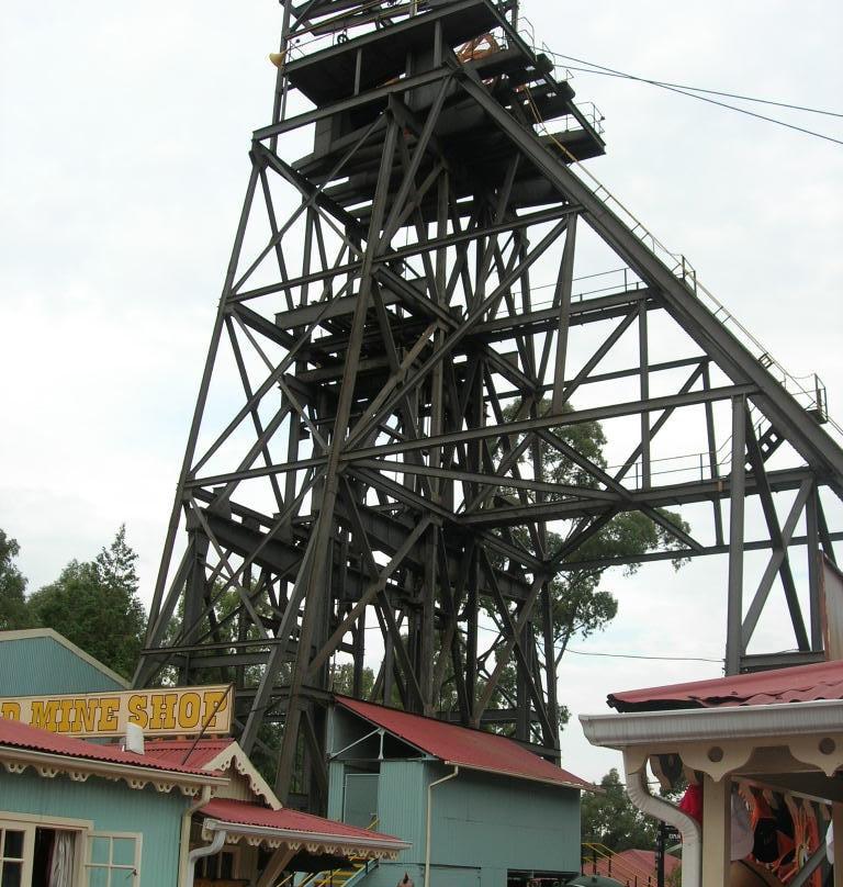 Gold mine headgear - Ekala Mining Tours