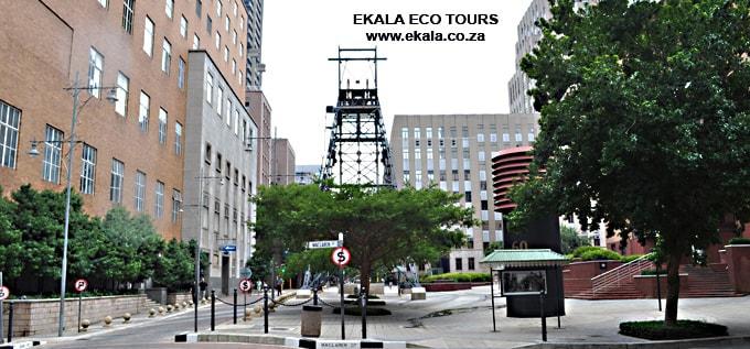 Main street – mining area Johannesburg - Ekala Mining Tours