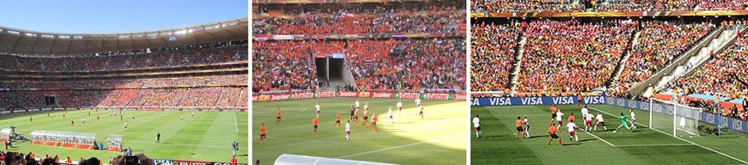 Games at Soccer City stadium